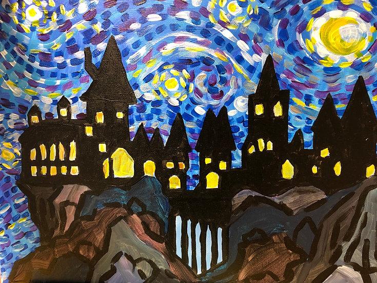 Hogwarts Starry Night Canvas Kit