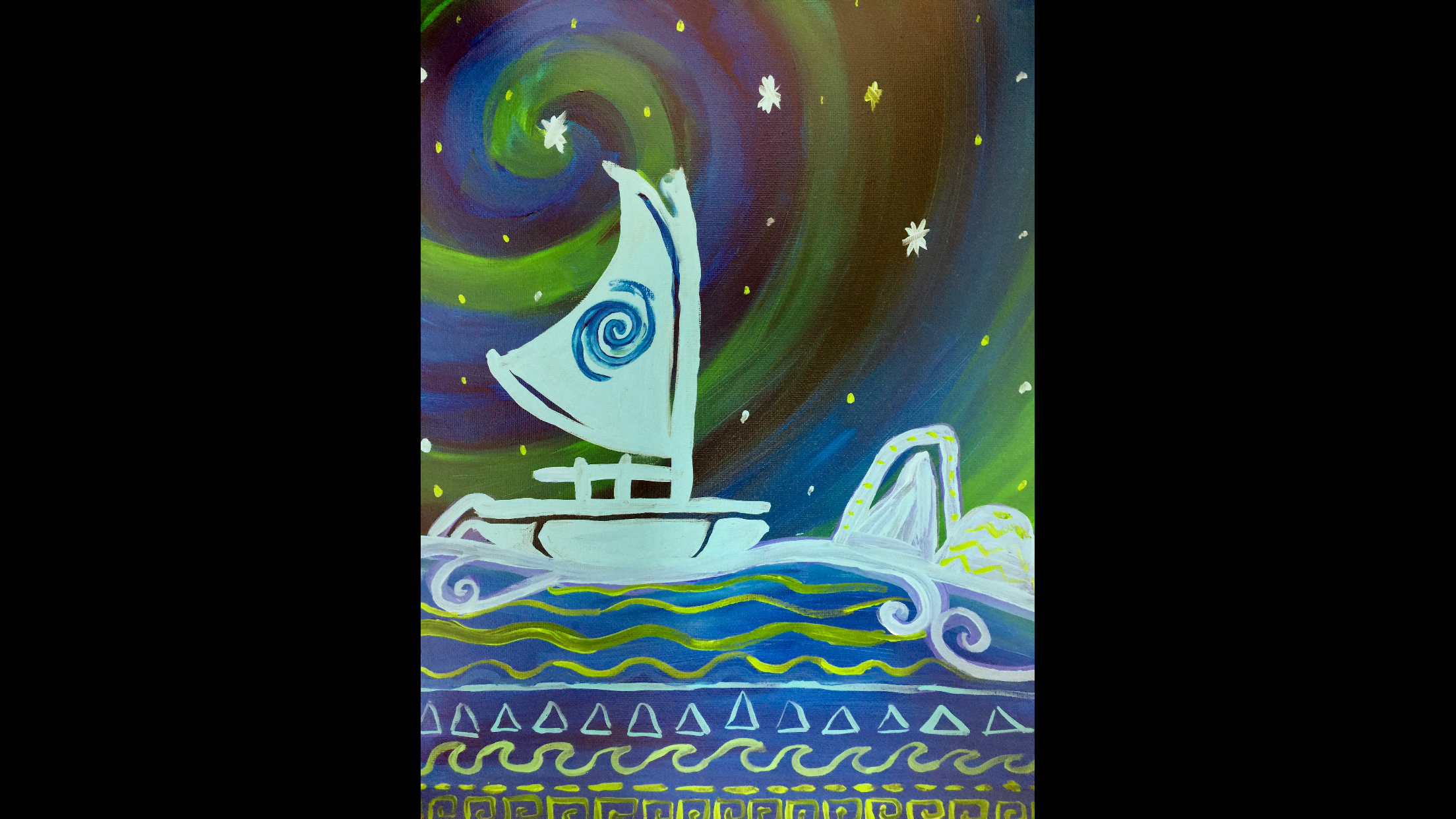 Moana Canoe Canvas