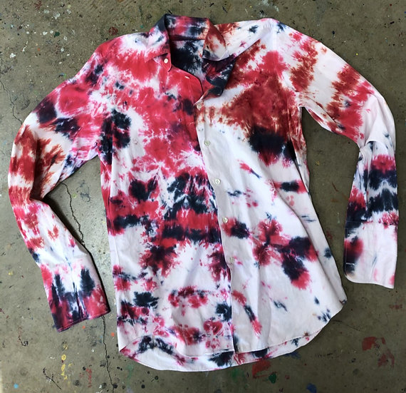 Hand Dyed Vintage Shirt (Men's Large)