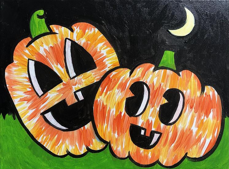 Tie Dye Pumpkins Painting Kit
