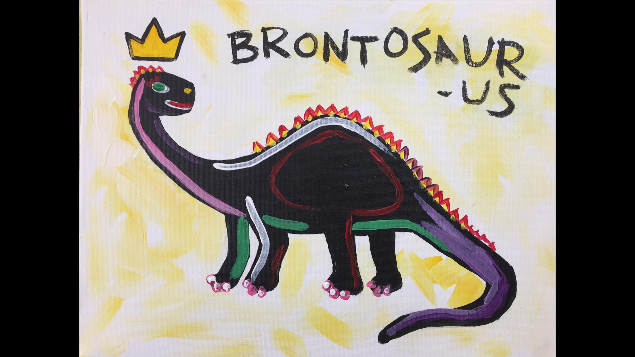 Basquiat Brontosaurus