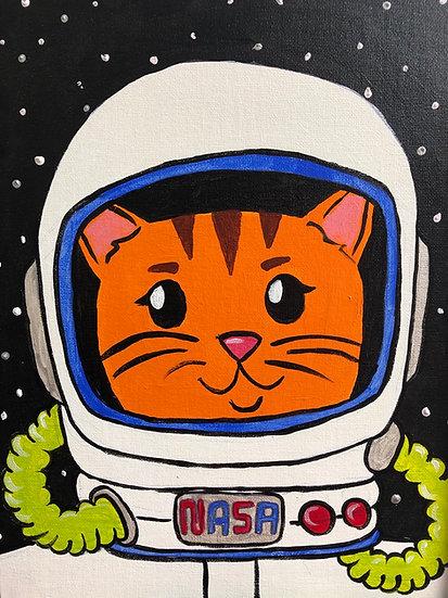 Catstronaut Canvas Painting Kit