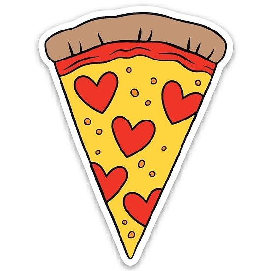 Pizza Heart Sticker