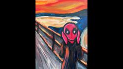 Deadpool as The Scream