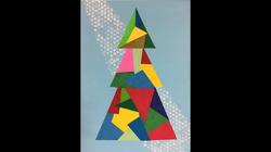 Modern Tree Collage Canvas