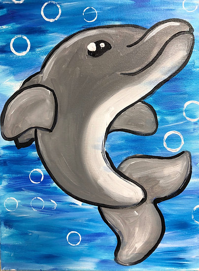 Dolphin Canvas Painting Kit