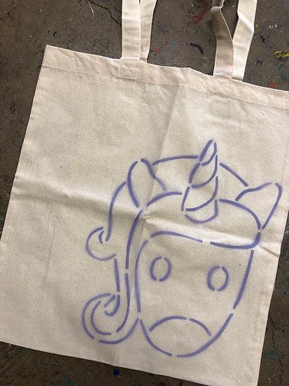 Unicorn Painted Tote Kit