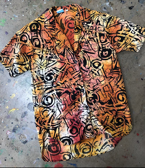 Hand Dyed Vintage Shirt (Women's Medium)