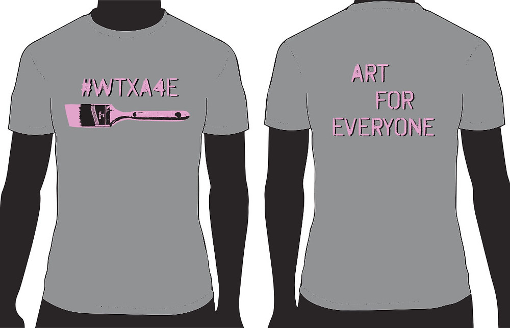 #WTXA4E T-Shirt designed by Kaye Aguilar, available in sizes Youth X-Small to Adult 2X