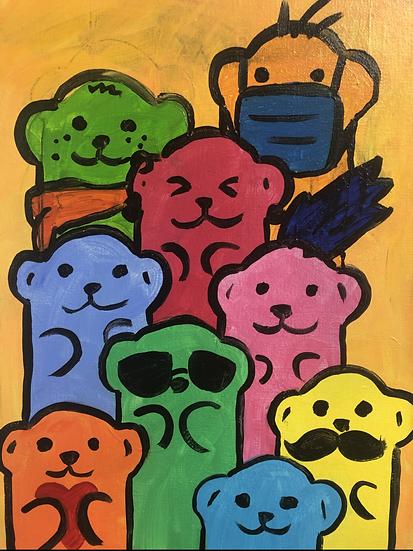 Otter Family Canvas Kit
