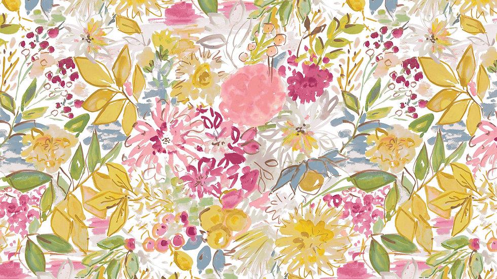 Ochre- Floral Yardage