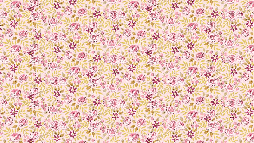 Ochre- Small Flowers Yardage