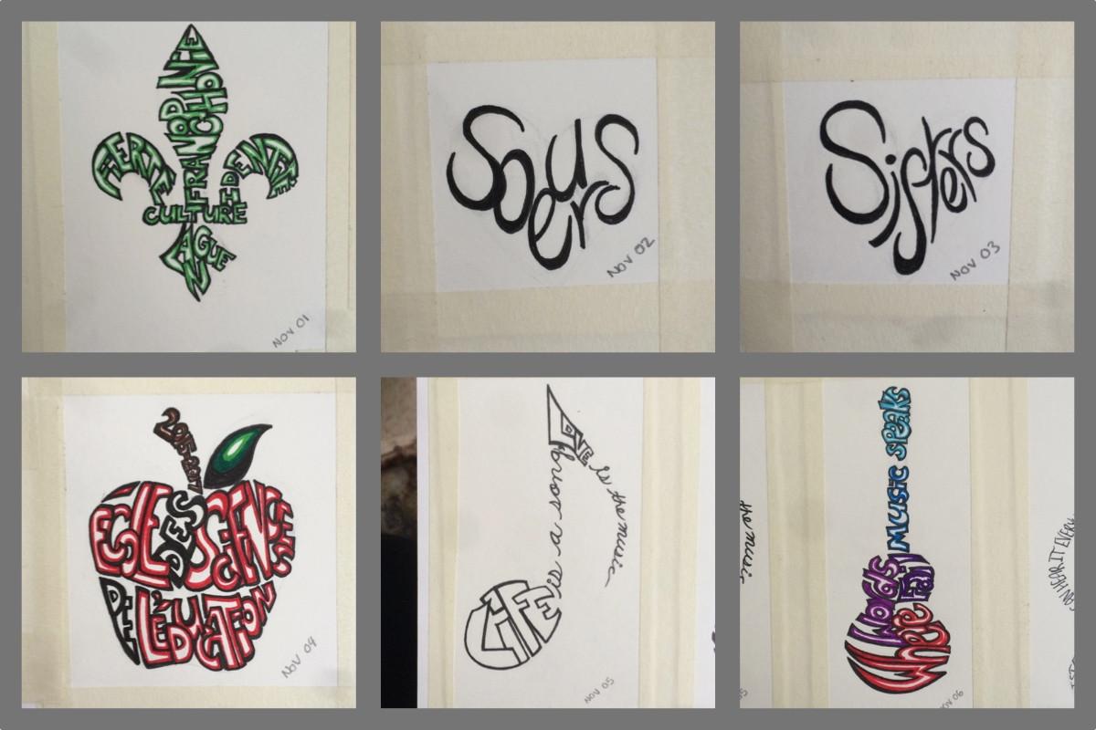 November Theme : Calligram