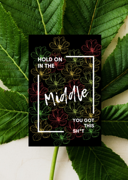 Mockup print The Middle-Floral