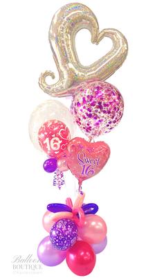 Linky Heart, Confetti, Bubble + Foil Bouquet