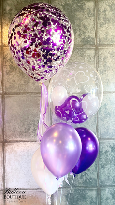Confetti + Bubble feature with latex group