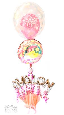 Name, Foil + Bubble Feature Bouquet