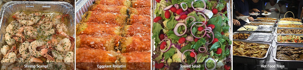 catering image of shimp scampi eggplant rollatini toss salad hot food.jpg