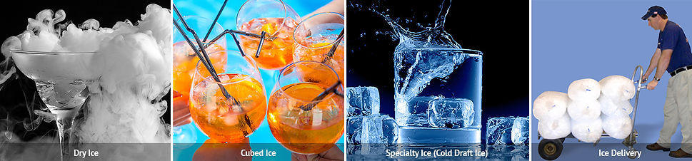 Pictures of ICE Types Dry Ice Cubed Ice Specialty Ice and Ice Delivery