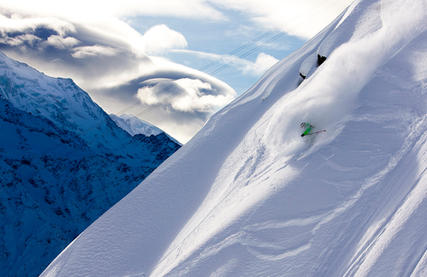 Skieur Brévent Chamonix