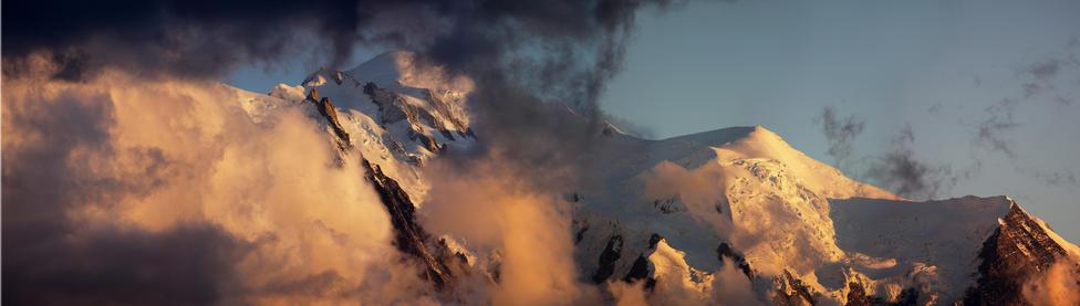Mont Blanc, dernier lumière