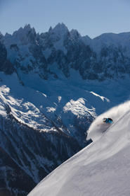 Skieur Flégère Chamonix