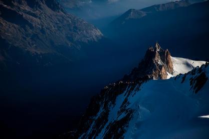 Aiguille du Midi, de Mont Blanc