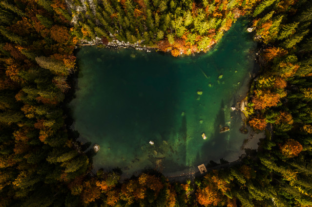 Servoz a Chamonix, vue du ciel