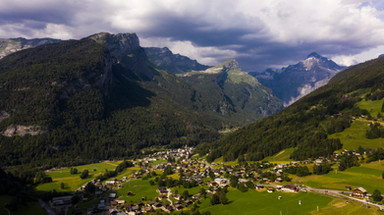 Haute-Savoie vue aérienne