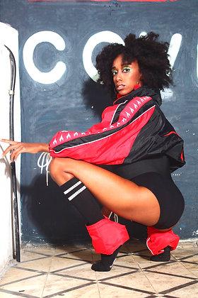 מעיל דיאדורה שחור אדום