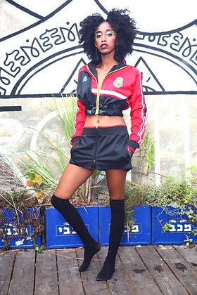 חליפת אדידס ריאל מדריד -ג׳קט מותן וחצאית מיני