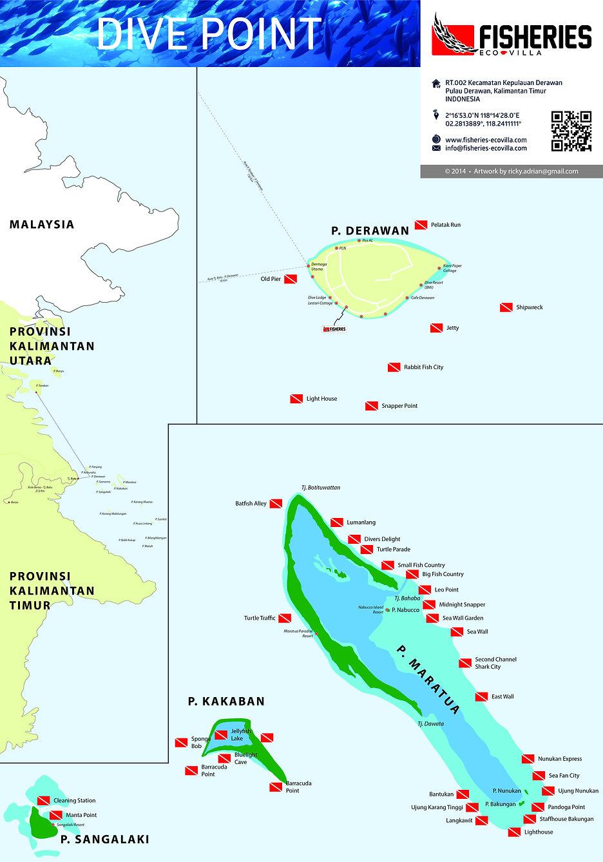 Derawan Archipelago Map