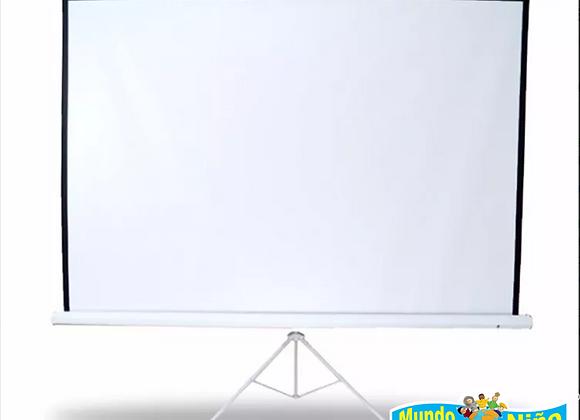 Multimedia Screen Pantalla Con Tripie 100'' Pulgadas