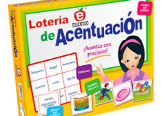 LOTERÍA EDUCATODO DE ACENTUACIÓN