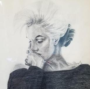 Marilyn - Black Dress by Mike Gonzalez