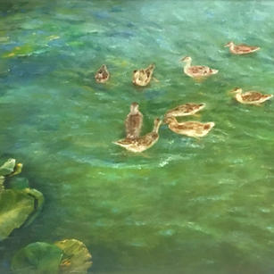 Ducks on Water by Catherine Trezek