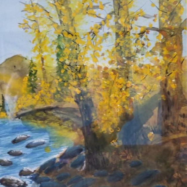 The River in Fall by Richard Movtvic
