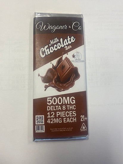 D8 THC Milk Chocolate Bar (500mg)
