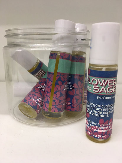 Flower and Sage Perfume Roller