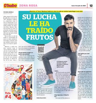 """EL ACTOR MAURICIO """"EL TURCO"""" MONTOYA EN QHUBO CALI"""