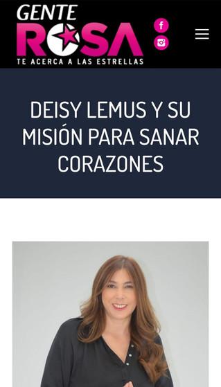 LA ACTRIZ DEISY LEMUS EN REVISTA GENTE ROSA