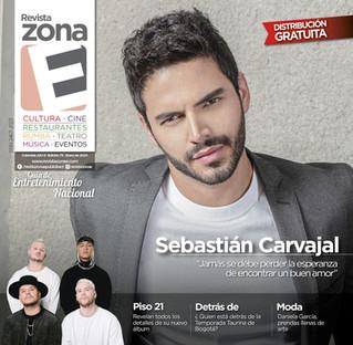 PORTADA SEBASTIÁN CARVAJAL EN LA REVISTA ZONA E