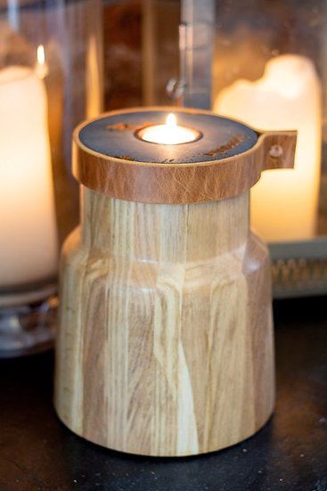 Elements: Pet Cremation Urn Handcrafted in Oak+Jesmonite