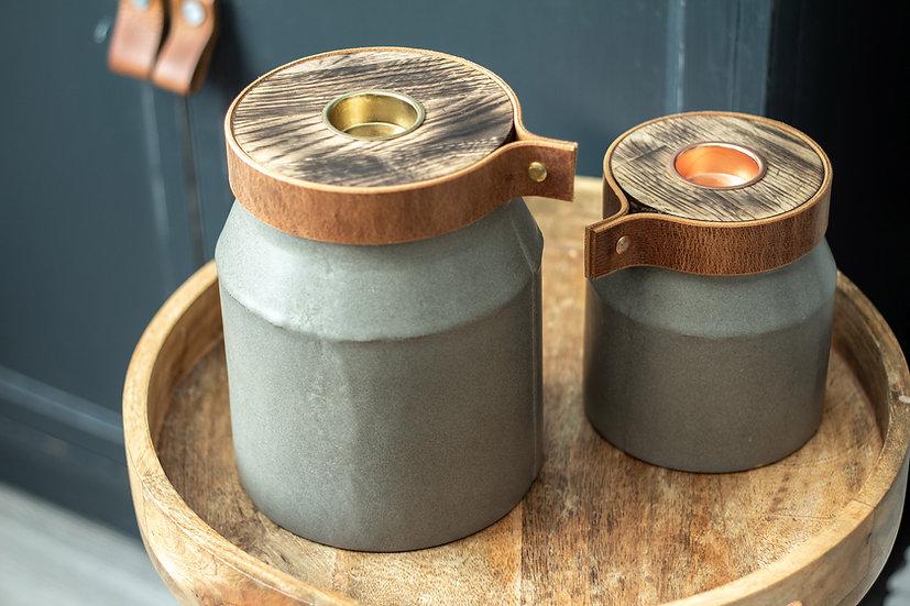 modern Rustic: Pet Cremation Urn LARGE