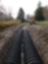 Infilrator leaching field installation