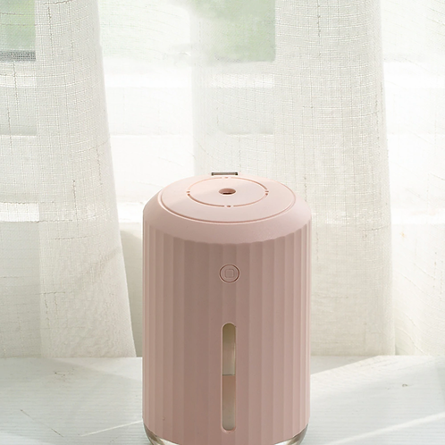 Pink Air Humidifier For Home USB Bottle Aroma Diffuser LED include Light and Fan