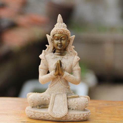 Nature Sandstone Buddha Statue Thailand Buddha Figurine Hindu Fengshui S