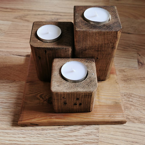 Handmade Reclaimed Candle Holder