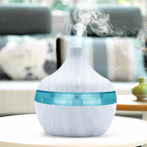 300ml Humidifier Aroma Essential Oil Diffuser Ultrasonic White Wood Grain