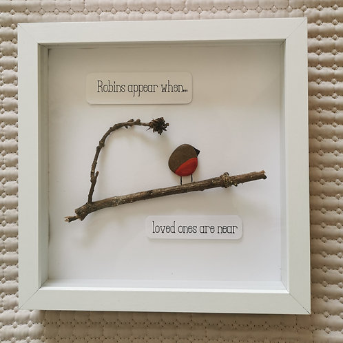 Pebble Art Picture / Robins Appear when...